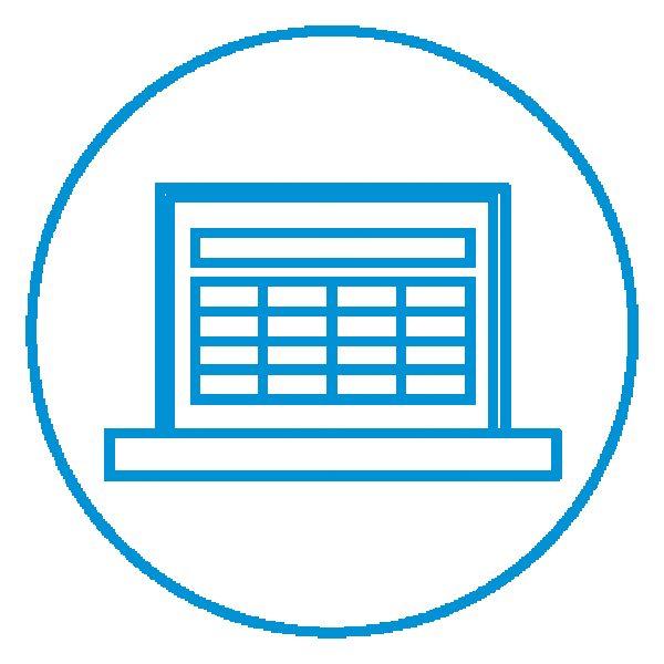 AE Illustration Icon Set Thicker Laptop spreadsheet