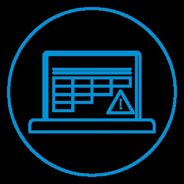 AE Illustration Icon Set Thicker Failure Coding