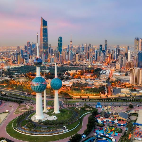 Middle East Kuwait Skyline