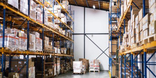 An interior of a warehouse PU8 JFBB