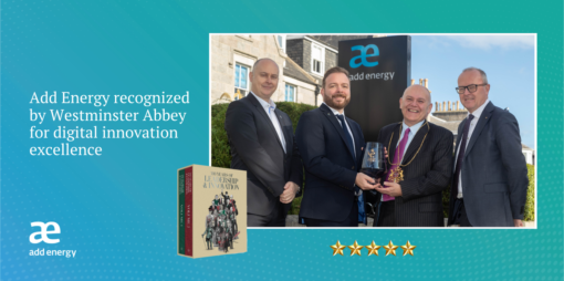 Add Energy recognized by Westminster Abbey for digital innovation excellence